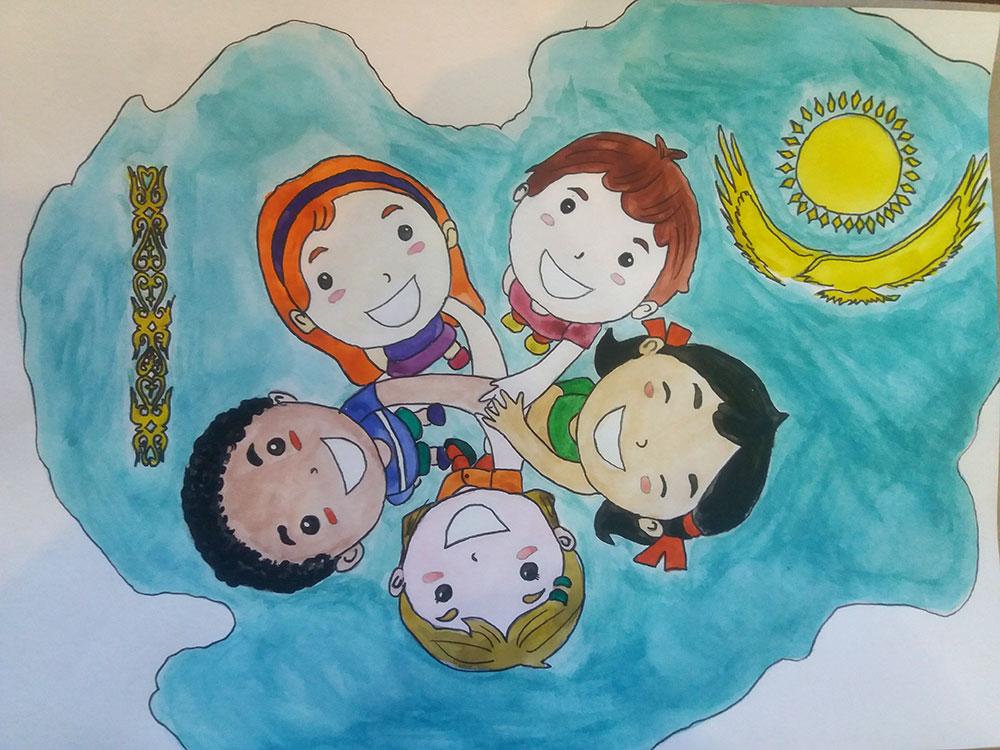 сестра постер о дружбе казахстана современной науки технологий